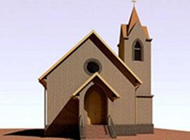 Установка окон в католическом храме Бердска
